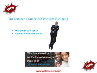 The Number 1 Online Job Provider In Nigeria
