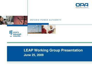 LEAP Working Group Presentation June 25, 2009