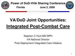 Power of DoD-VHA Sharing Conference Florida        June 2, 2009