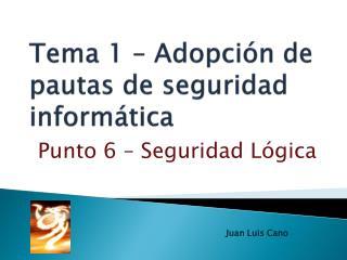 Tema 1 – Adopción de pautas de seguridad informática
