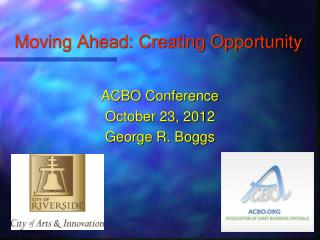 Moving Ahead: Creating Opportunity