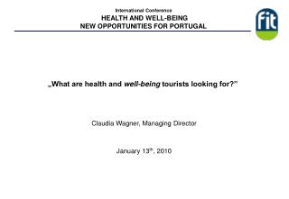 """What are health and  well-being  tourists looking for?"""