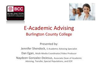 E-Academic Advising Burlington County College