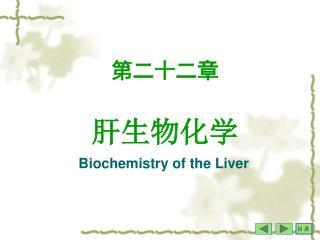 第二十二章 肝生物化学