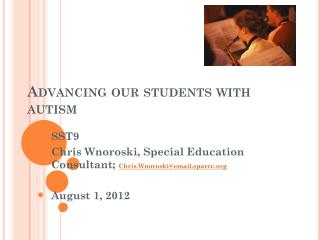 Advancing our students with autism