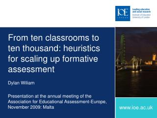 From ten classrooms to ten thousand: heuristics for scaling up formative assessment