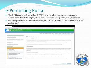 e-Permitting Portal