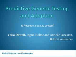 Predictive Genetic Testing and Adoption