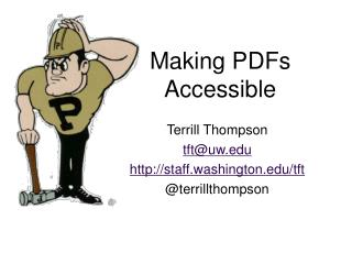 Making PDFs Accessible