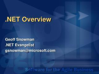 .NET Overview