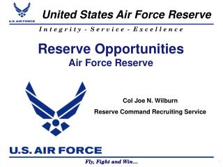 Reserve Opportunities Air Force Reserve