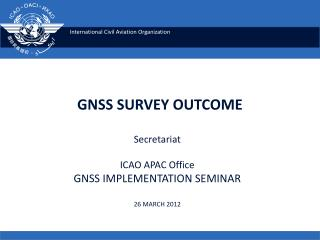 GNSS SURVEY OUTCOME
