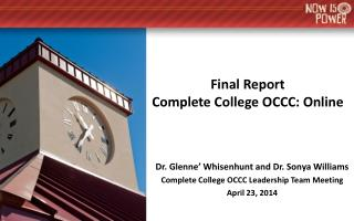 Final Report Complete College OCCC: Online