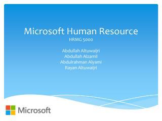 Microsoft  Human Resource