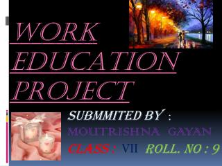 WORK EDUCATION Project
