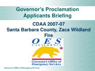 CDAA 2007-07  Santa Barbara County, Zaca Wildland Fire