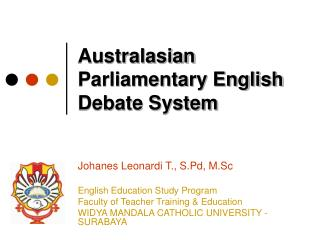 Australasian Parliamentary English Debate System