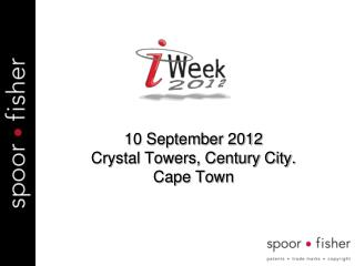 10  September 2012 Crystal Towers, Century City . Cape Town