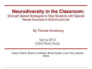 Spring  2013 CI843  Book Study