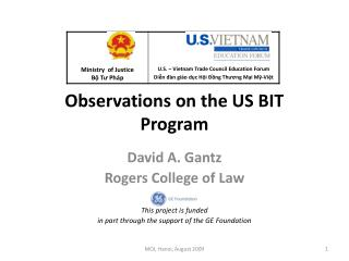 Observations on the US BIT Program