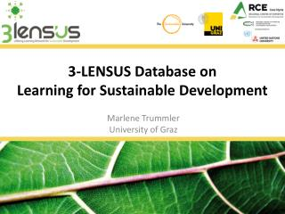 3-LENSUS Database on  Learning for Sustainable Development
