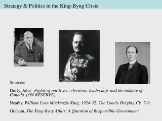 Strategy & Politics in the King-Byng Crisis