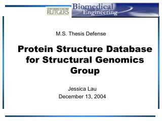 Protein Structure Database  for Structural Genomics Group