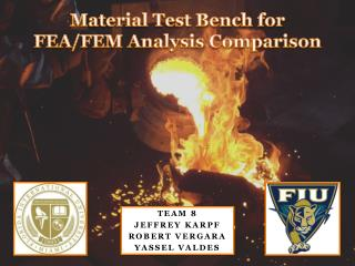 Material Test Bench for FEA/FEM Analysis Comparison