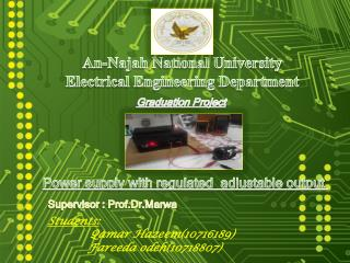 An- Najah  National University Electrical Engineering Department
