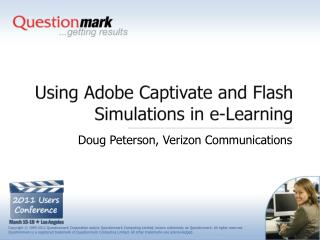 Using Adobe Captivate and Flash Simulations in e-Learning