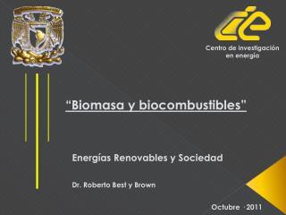 """""""Biomasa y biocombustibles"""""""