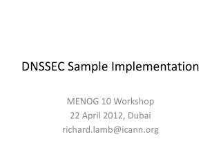 DNSSEC Sample Implementation