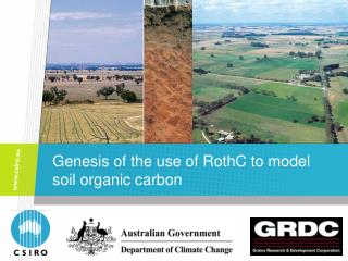 Genesis of the use of RothC to model soil organic carbon