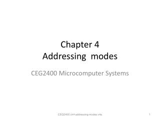 Chapter 4  Addressing  modes