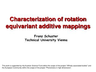 Characterization of rotation equivariant additive mappings