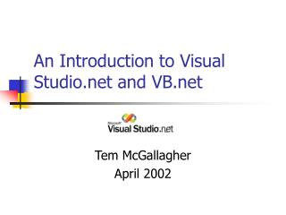 An Introduction to Visual Studio and VB
