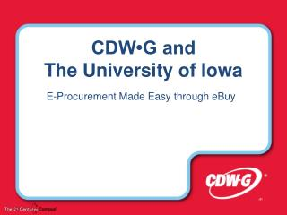 CDW•G and  The University of Iowa