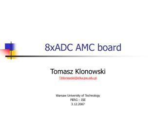 8xADC  AMC board