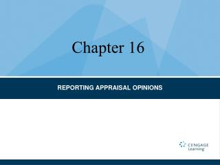 REPORTING APPRAISAL OPINIONS