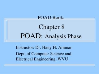 POAD Book: Chapter 8 POAD:  Analysis Phase