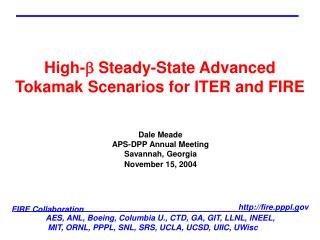 High-b Steady-State Advanced Tokamak Scenarios for ITER and FIRE
