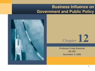 Business Influence on Government and Public Policy
