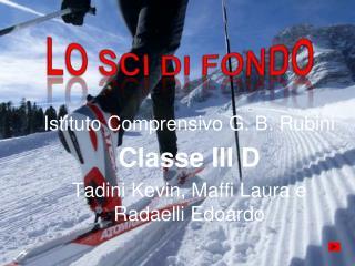 Istituto Comprensivo G. B. Rubini Classe III D