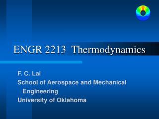 ENGR 2213  Thermodynamics