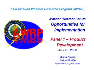 FAA Aviation Weather Research Program (AWRP)