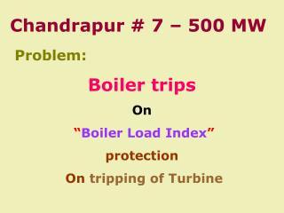 Chandrapur # 7 – 500 MW