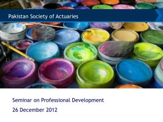 Seminar on Professional Development 26 December 2012