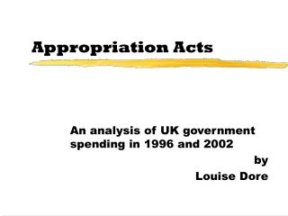 Appropriation Acts