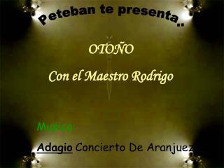 Musica: Adagio Concierto De Aranjuez
