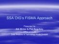 SSA OIG s FISMA Approach